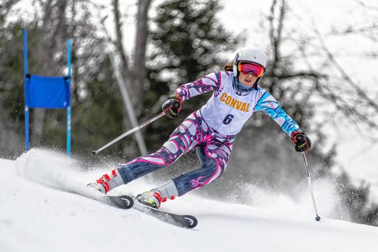 Rosie Crooker, ConVal alpine skiing Staff photo by Ben Conant