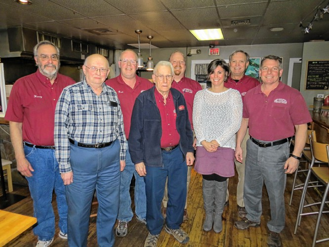 Belletetes Inc Of Jaffrey And Peterborough Celebrated Four Long Term Employees At Sunflowers Cafe In From Left The Front Row Are Donald