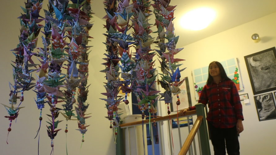 Image result for origami cranes mobiles