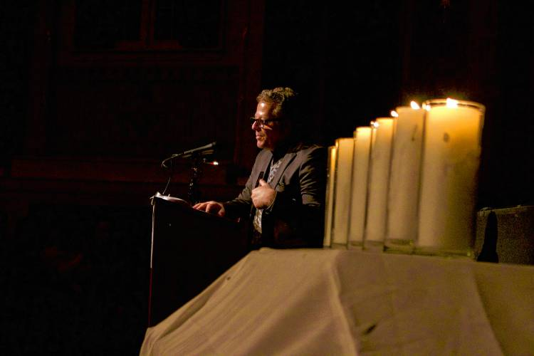 Kristallnacht Commemoration at the Colonial Theatre in Keene Thursday. Photo by Caitlyn Doherty—