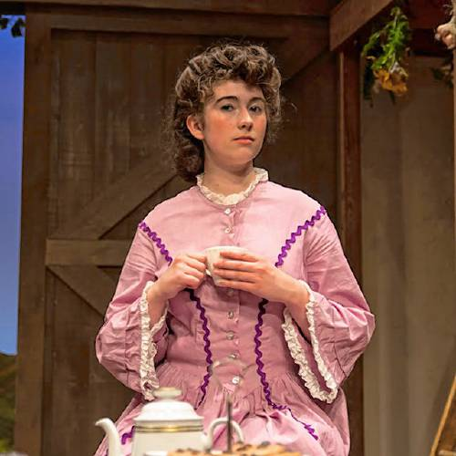 "Eve Pierce in ""Pippi Longstocking"" at the Peterborough Players. Photo by Will Howell"