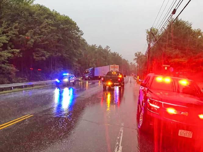 Monadnock Ledger-Transcript - Tractor-trailer crash blocks