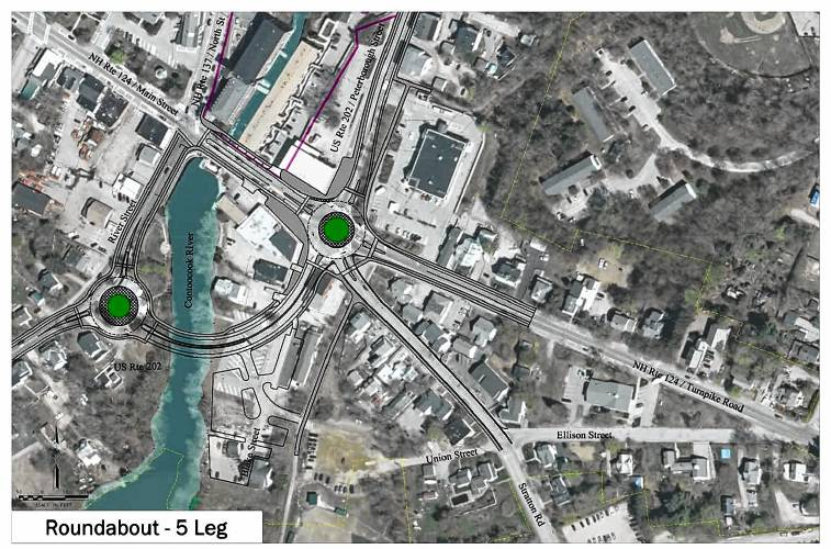 Nh Traffic Map.Monadnock Ledger Transcript Two Roundabouts And Two Building
